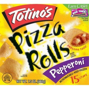 Box of Totino's Pizza Rolls