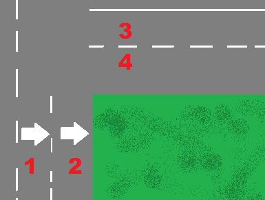 Turn lanes